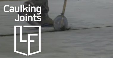 Caulking joints polished concrete