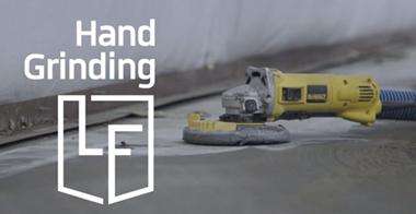 Hand grinding epoxy flooring