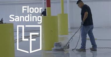 Sanding epoxy flooring