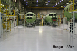 Polished Concrete Floors in Airplane Hangars