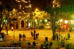 Greenville, South Carolina at Night