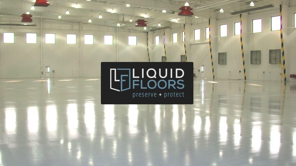 Bank of America Hangar Epoxy Flooring Installation By Liquid Floors Industrial Flooring