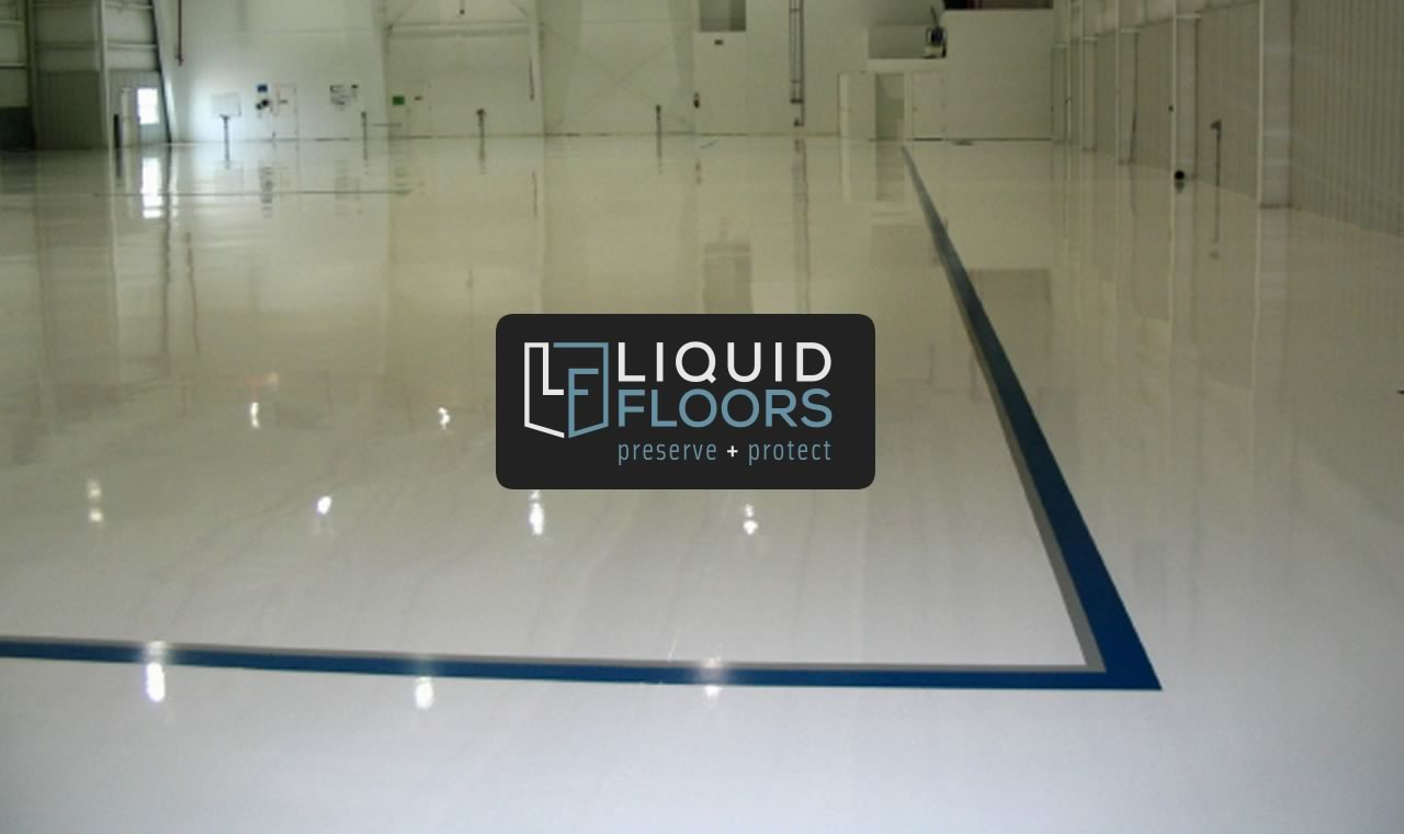 Beautiful Aviation Hangar Epoxy Flooring and Line Striping Installation 1