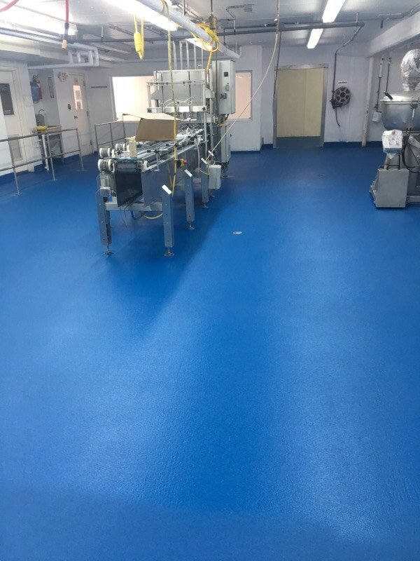 cementitious urethane on floors