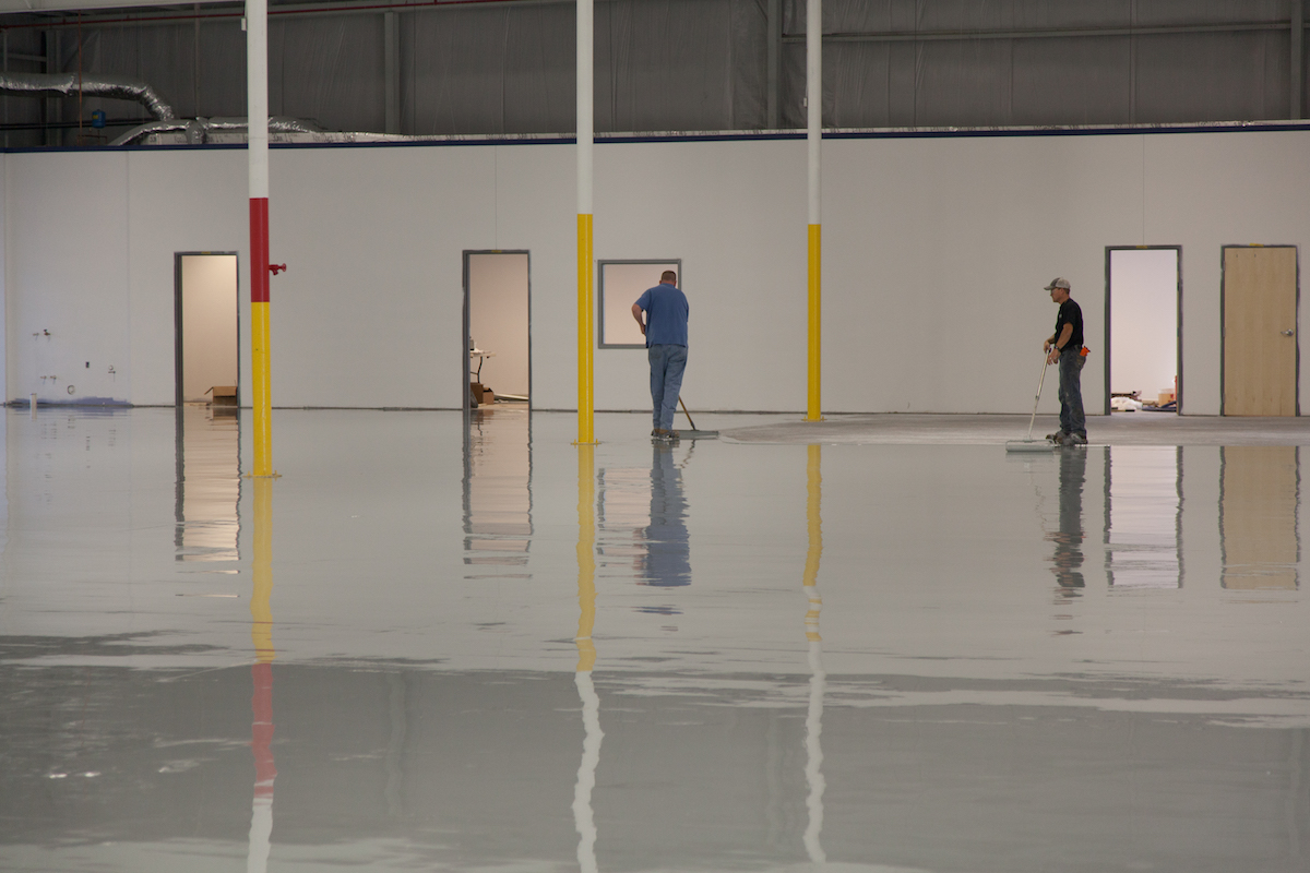 Concrete Floor Maintenance Crew
